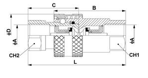 Схема. Быстроразъемное соединение ISO 7241-1 серия А тип ISO-A