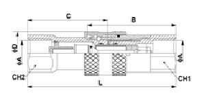 Быстроразъемное соединение клапан с плоской поверхностью, непротекаемый тип 2FFN ISO 16028