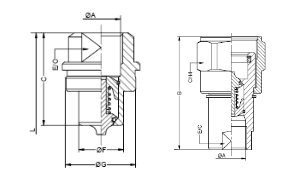 Схема, Быстроразъемное резьбовое соединение для высокого давления, тип TGW